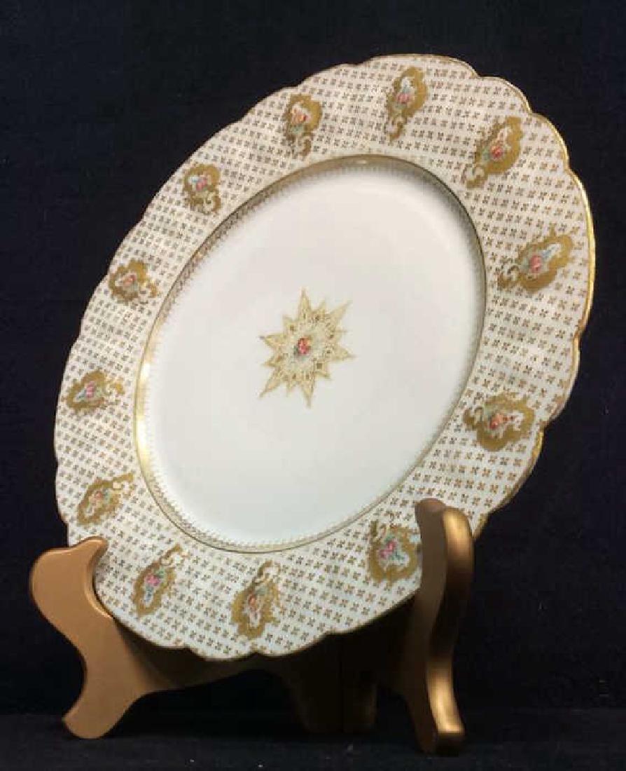 Lot 12 LIMOGES FRANCE Porcelain Plates - 3