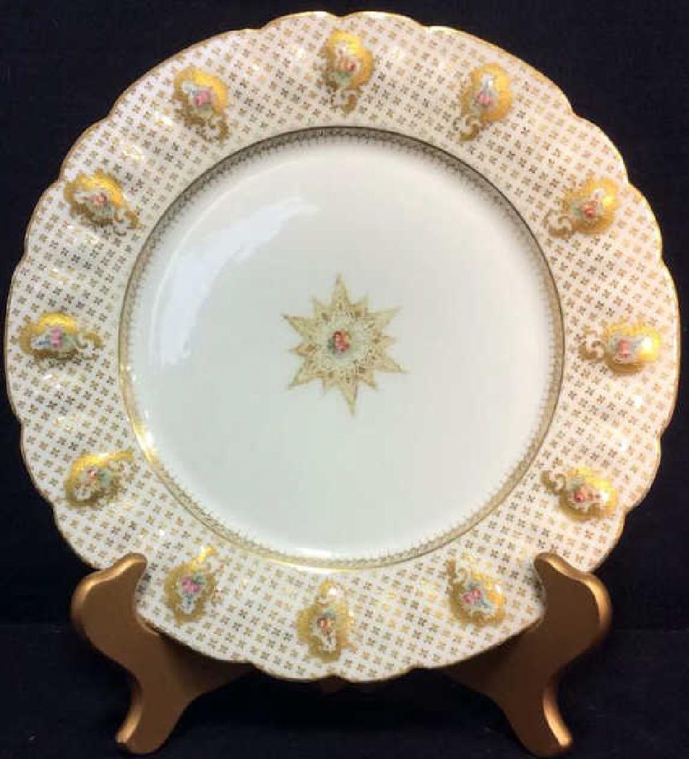 Lot 12 LIMOGES FRANCE Porcelain Plates - 4