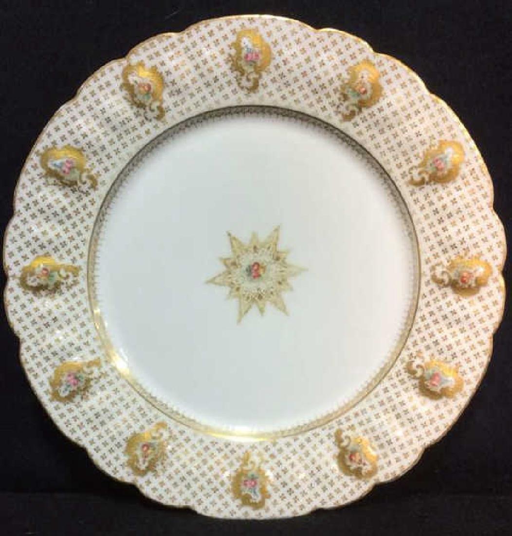 Lot 12 LIMOGES FRANCE Porcelain Plates - 5