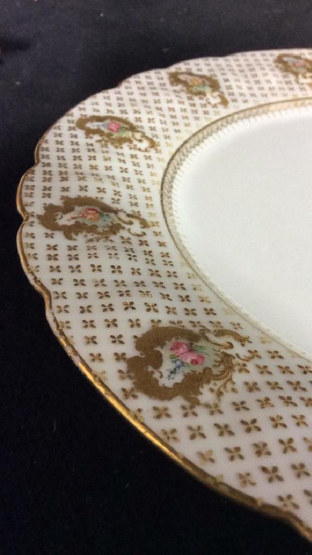 Lot 12 LIMOGES FRANCE Porcelain Plates - 6