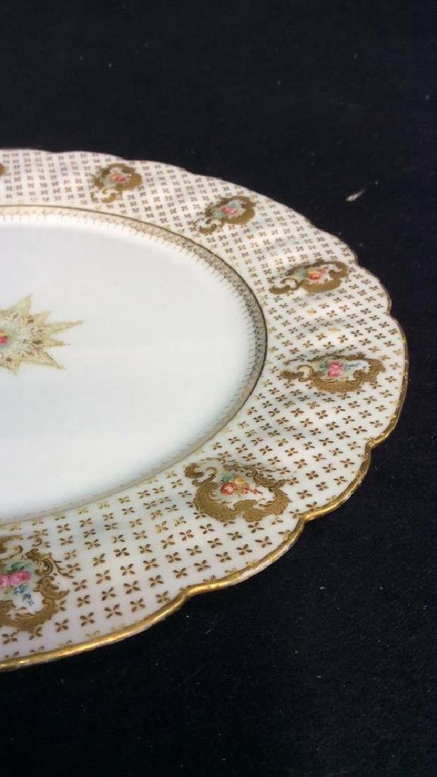Lot 12 LIMOGES FRANCE Porcelain Plates - 7
