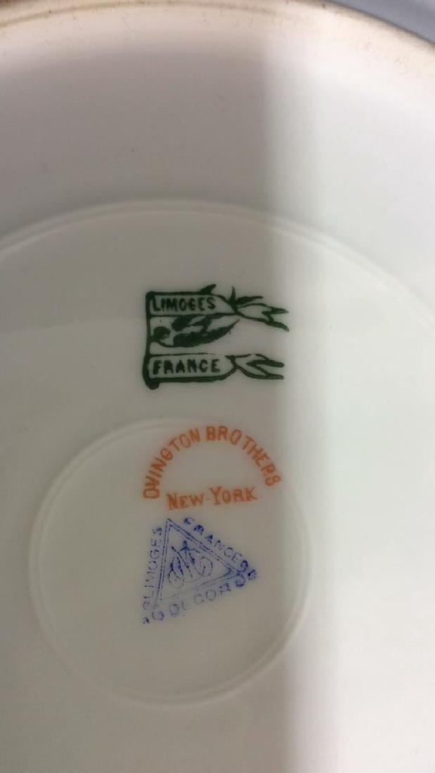 Lot 12 LIMOGES FRANCE Porcelain Plates - 8