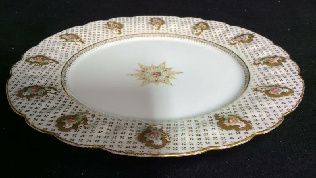 Lot 12 LIMOGES FRANCE Porcelain Plates - 9