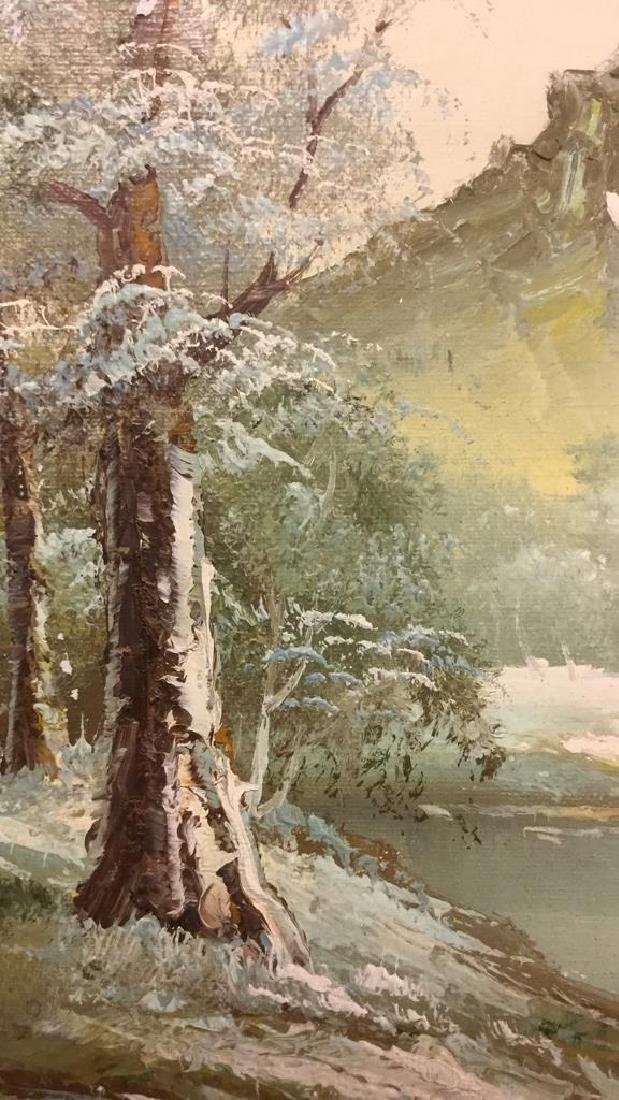 Mountain And Forest Scene Painting By Stone - 3