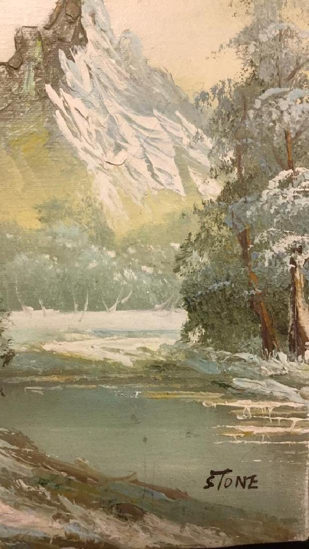 Mountain And Forest Scene Painting By Stone - 4