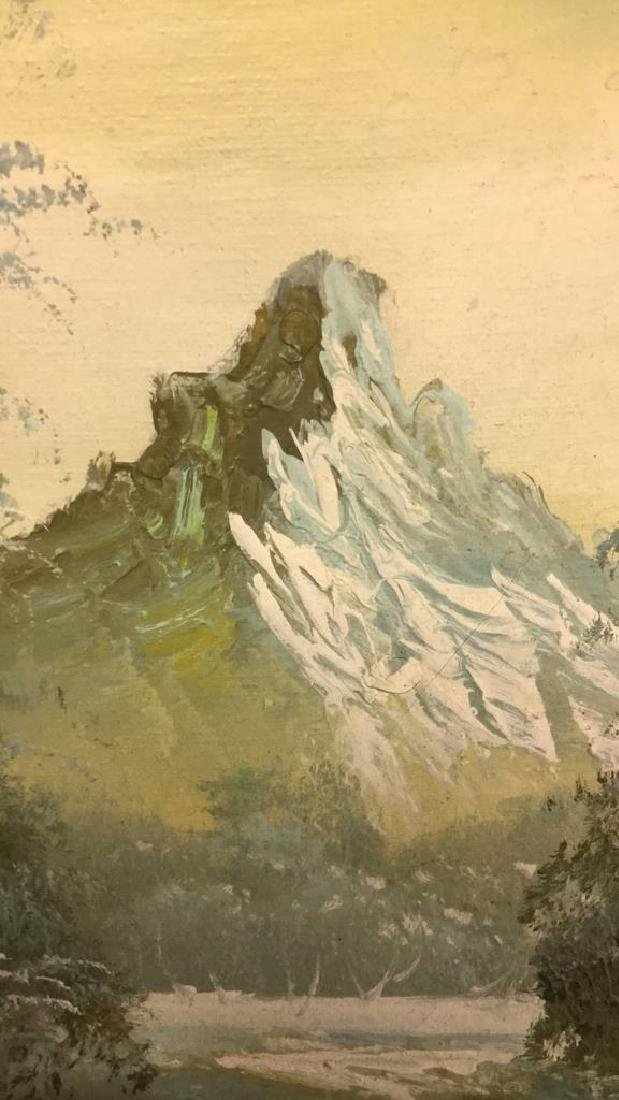 Mountain And Forest Scene Painting By Stone - 5