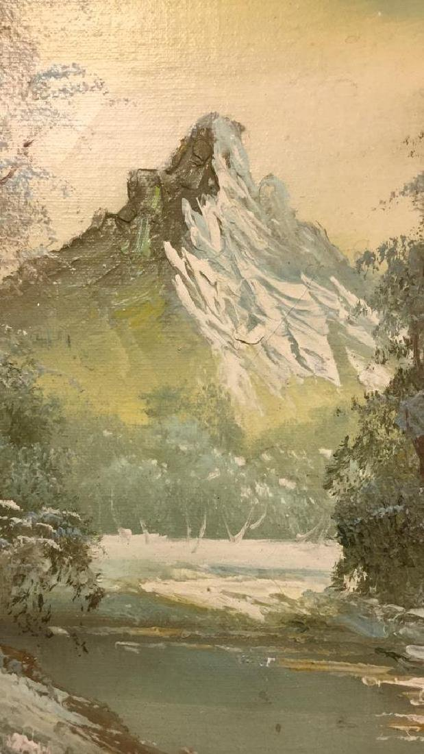 Mountain And Forest Scene Painting By Stone - 6