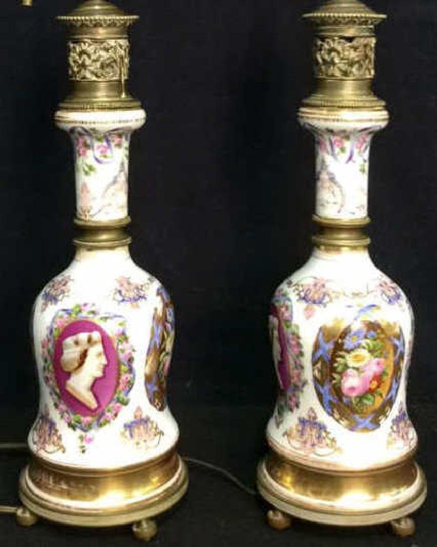 Painted Porcelain Table Lamps