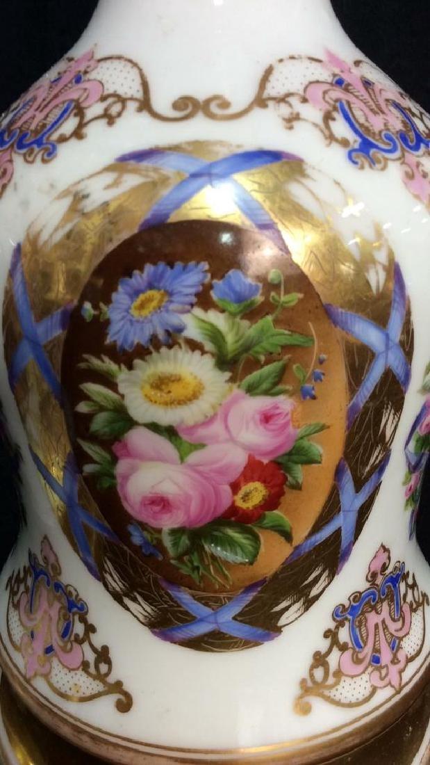 Painted Porcelain Table Lamps - 4