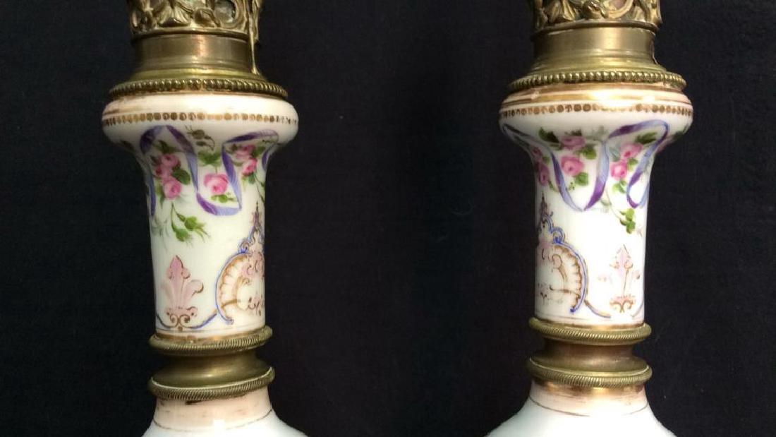 Painted Porcelain Table Lamps - 5