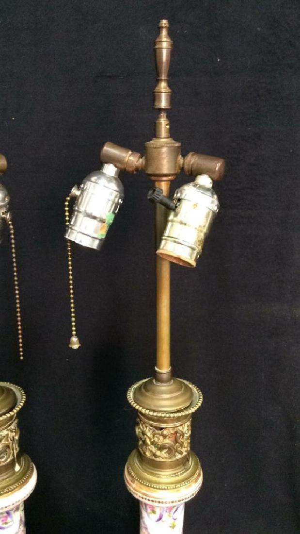 Painted Porcelain Table Lamps - 7