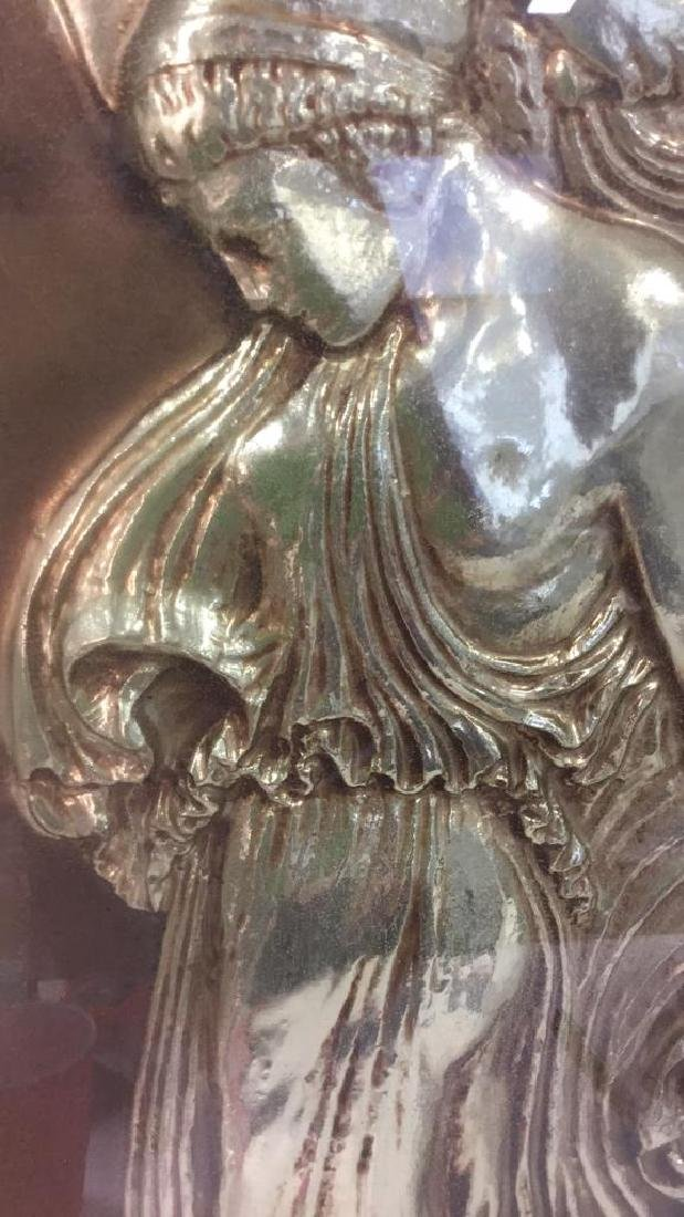 Vintage Metal Gold Toned Relief Greek Figural Art - 8