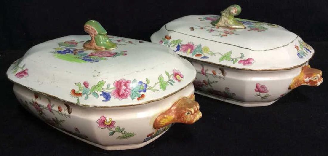 Pair COPELAND SPODE New Stone Porcelain Cookware
