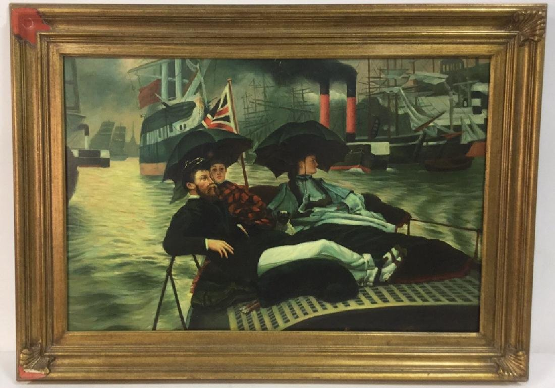 "Painting Study Of James Tissot's ""On The Thames"""