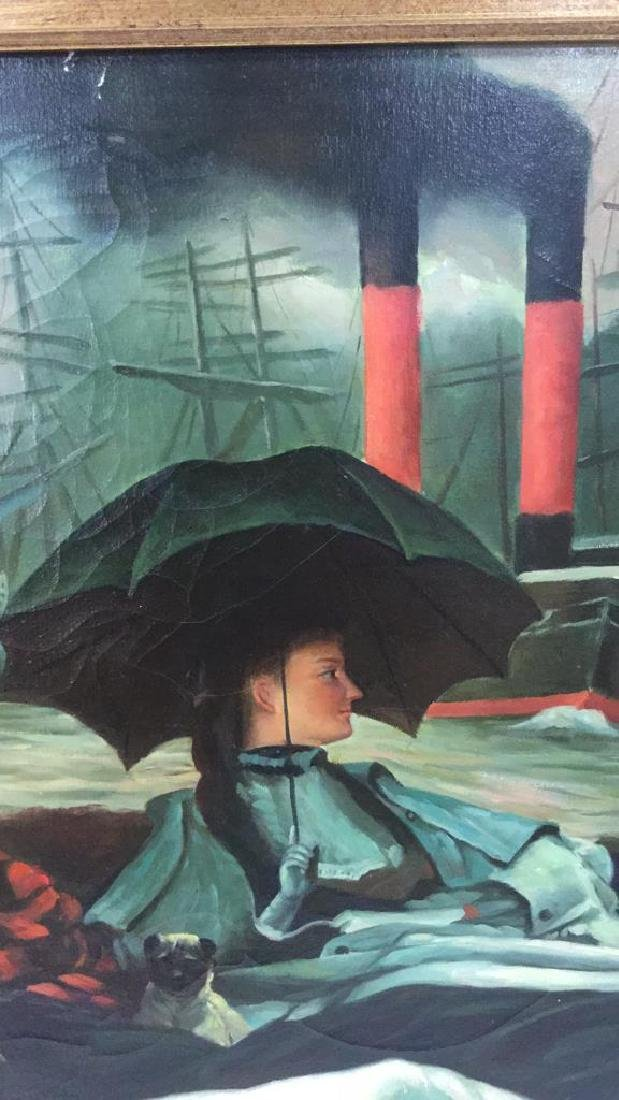 "Painting Study Of James Tissot's ""On The Thames"" - 4"