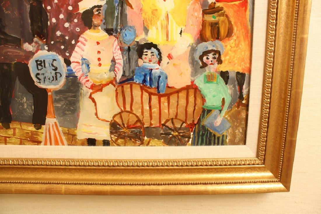 Vintage Folk Art Reverse Painting on Glass - 3