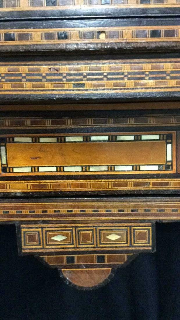 Wood W Mother of Pearl Inlay Serbian Game Table - 3