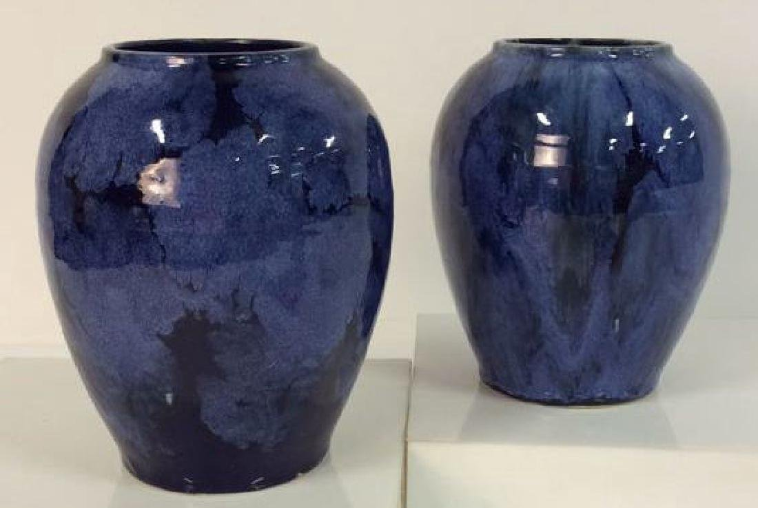 Pair Antique Victorian Arts & Crafts Vases c1900