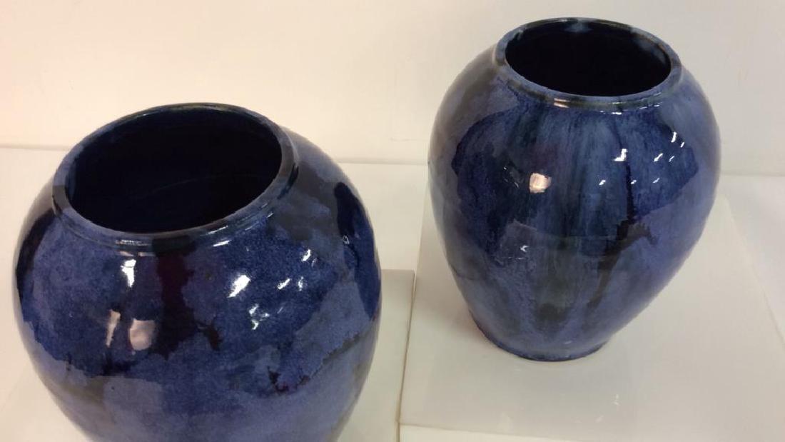 Pair Antique Victorian Arts & Crafts Vases c1900 - 6