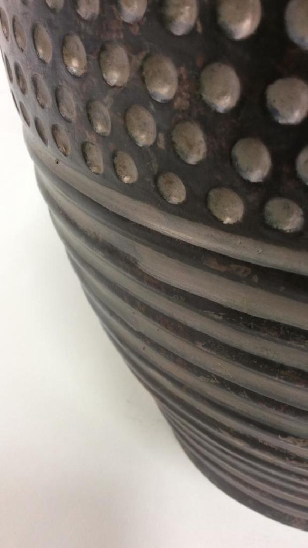 Pair Dot & Stripe Relief Detail Composite Lamps - 10
