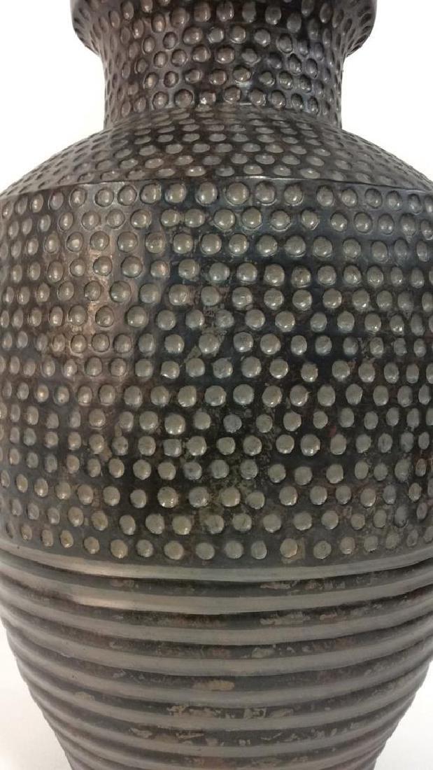 Pair Dot & Stripe Relief Detail Composite Lamps - 4
