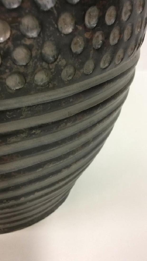 Pair Dot & Stripe Relief Detail Composite Lamps - 9