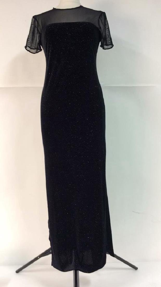 HAMPTON NITES Black Designer Evening Dress