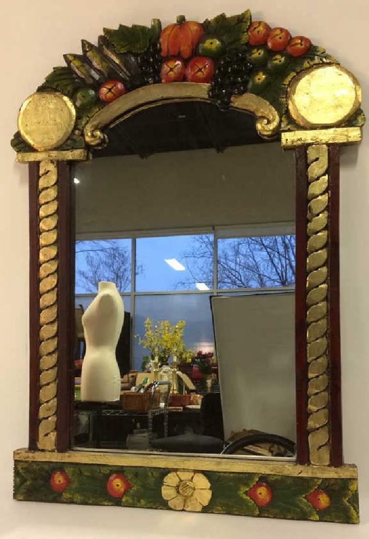 THE GOLDEN RABBIT Handmade Painted Mirror