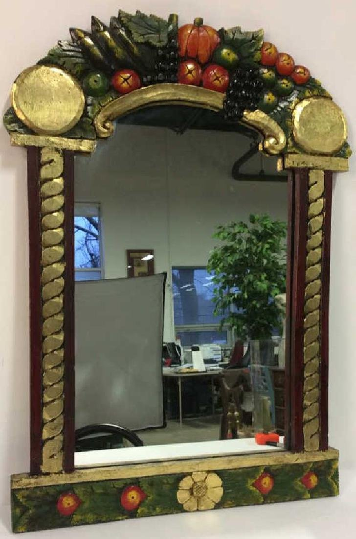 THE GOLDEN RABBIT Handmade Painted Mirror - 2
