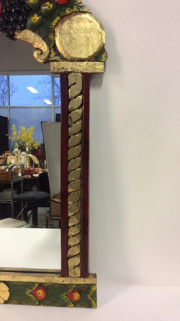 THE GOLDEN RABBIT Handmade Painted Mirror - 4