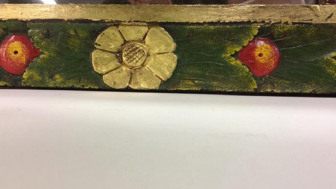 THE GOLDEN RABBIT Handmade Painted Mirror - 6