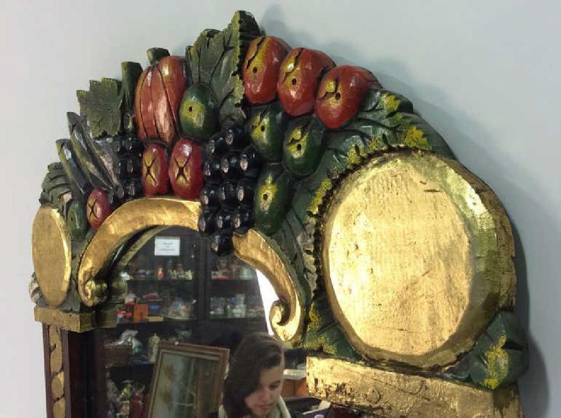 THE GOLDEN RABBIT Handmade Painted Mirror - 7