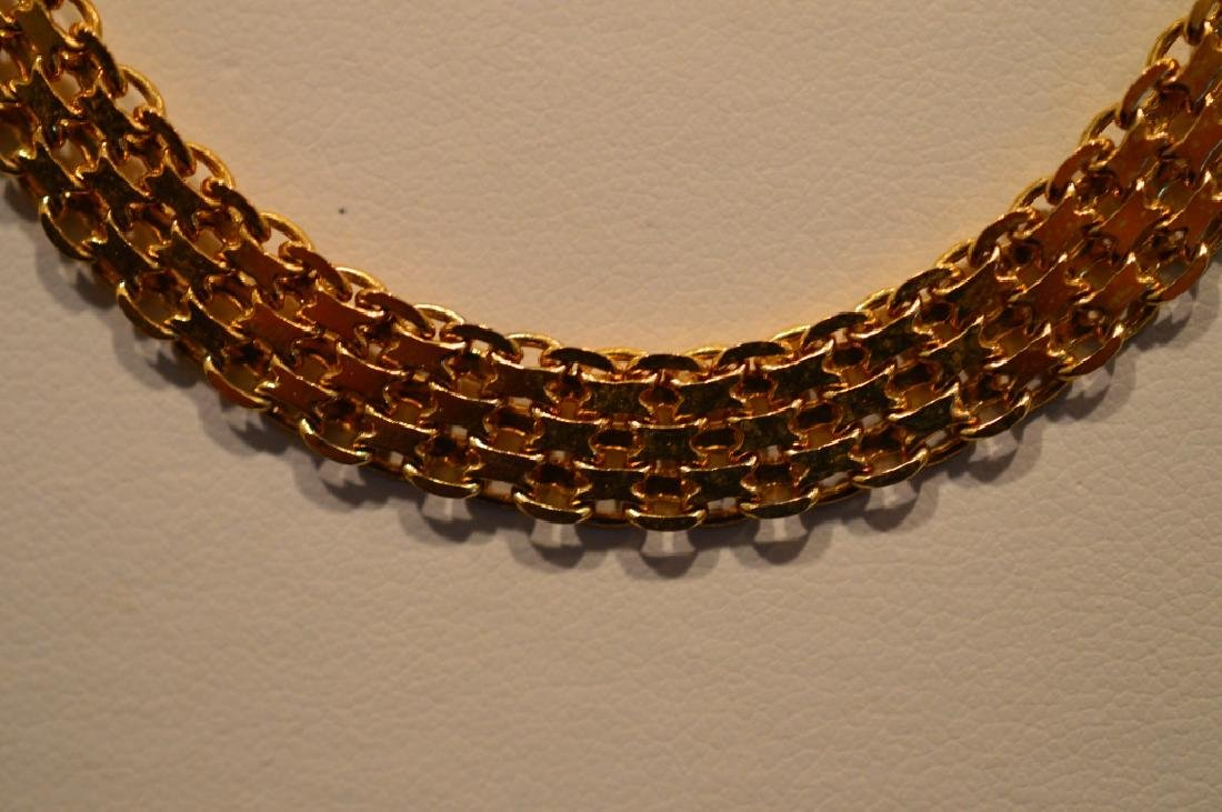 "Ladies20""Goldplate SterlingNecklace Gold Color Pin - 2"