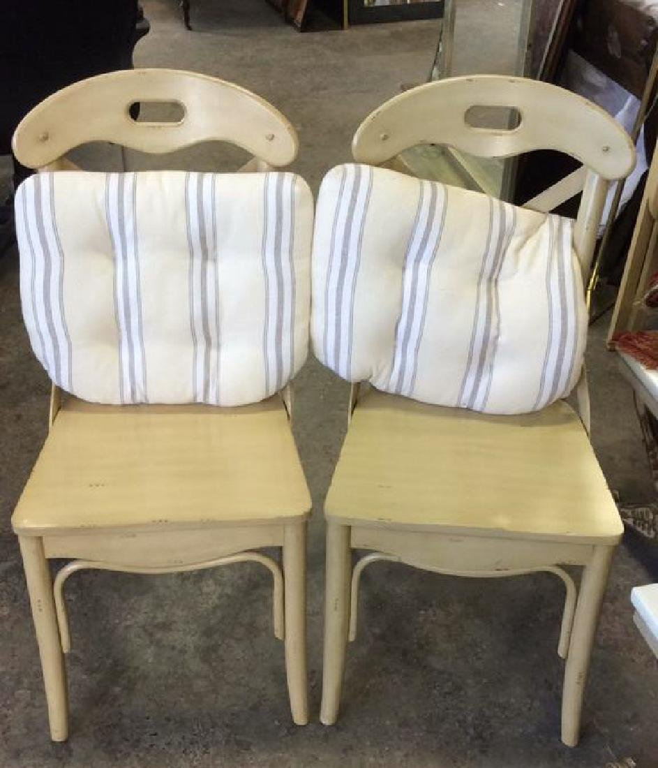 Lot 2 Wooden Cushioned Side Chairs - 10