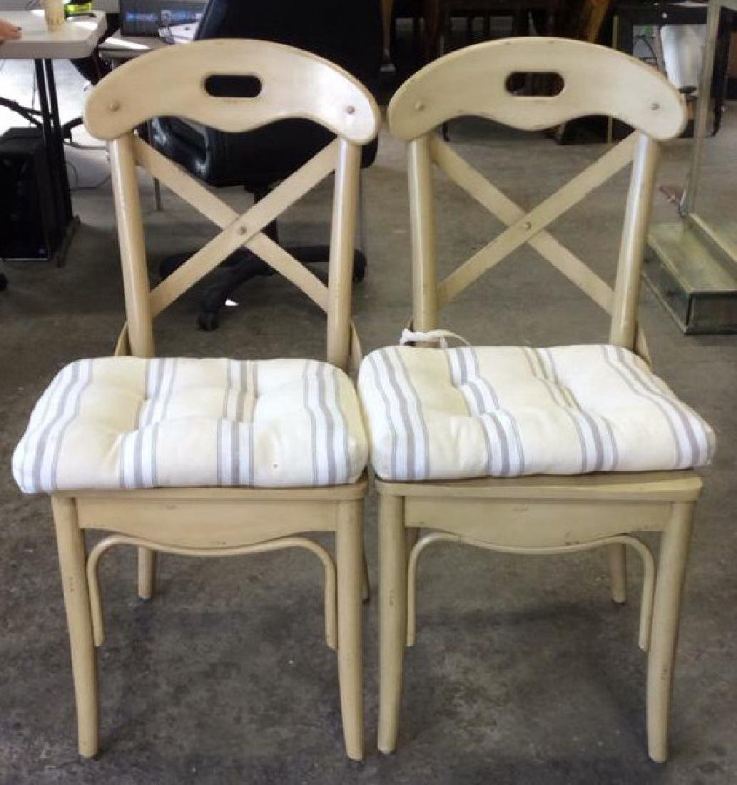 Lot 2 Wooden Cushioned Side Chairs
