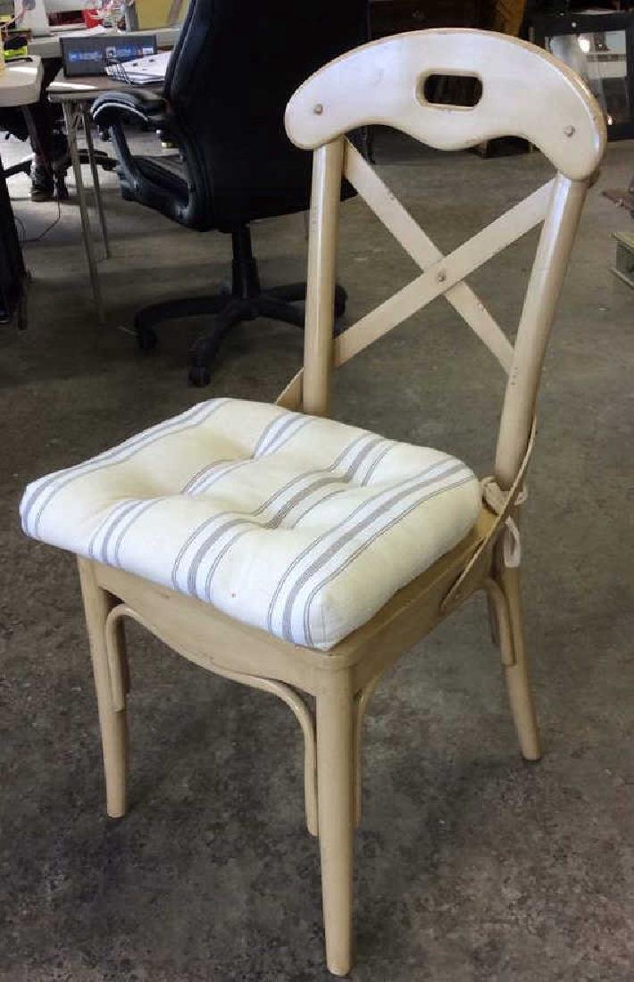 Lot 2 Wooden Cushioned Side Chairs - 2