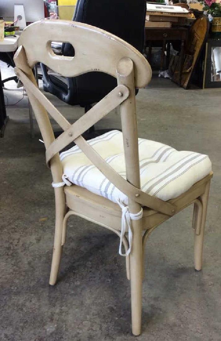 Lot 2 Wooden Cushioned Side Chairs - 6