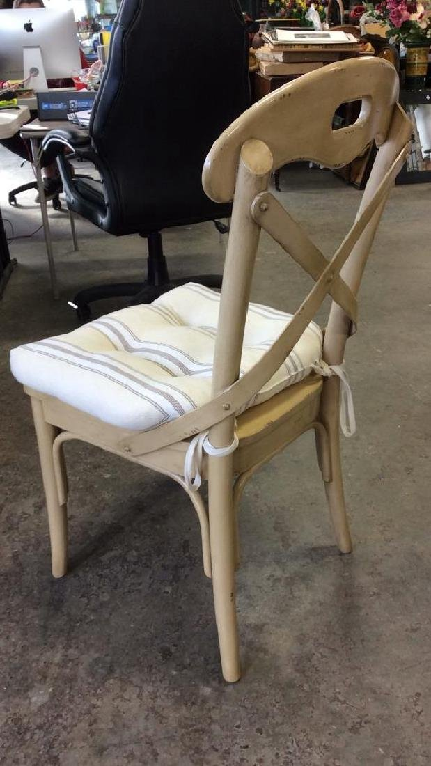 Lot 2 Wooden Cushioned Side Chairs - 8