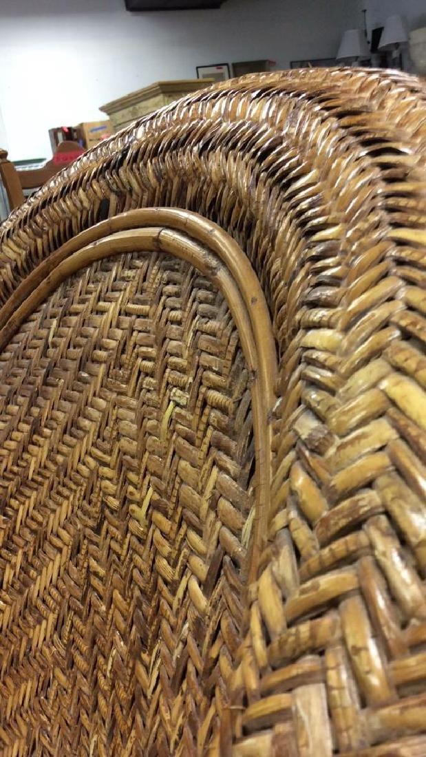 Lot 2 Woven Wicker Armchair & Footrest - 9