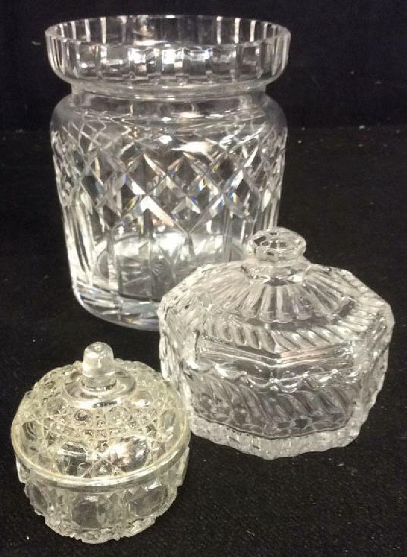 Lot 3 Crystal & Glass Tabletop Accessories