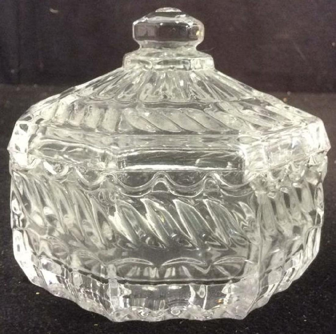 Lot 3 Crystal & Glass Tabletop Accessories - 5