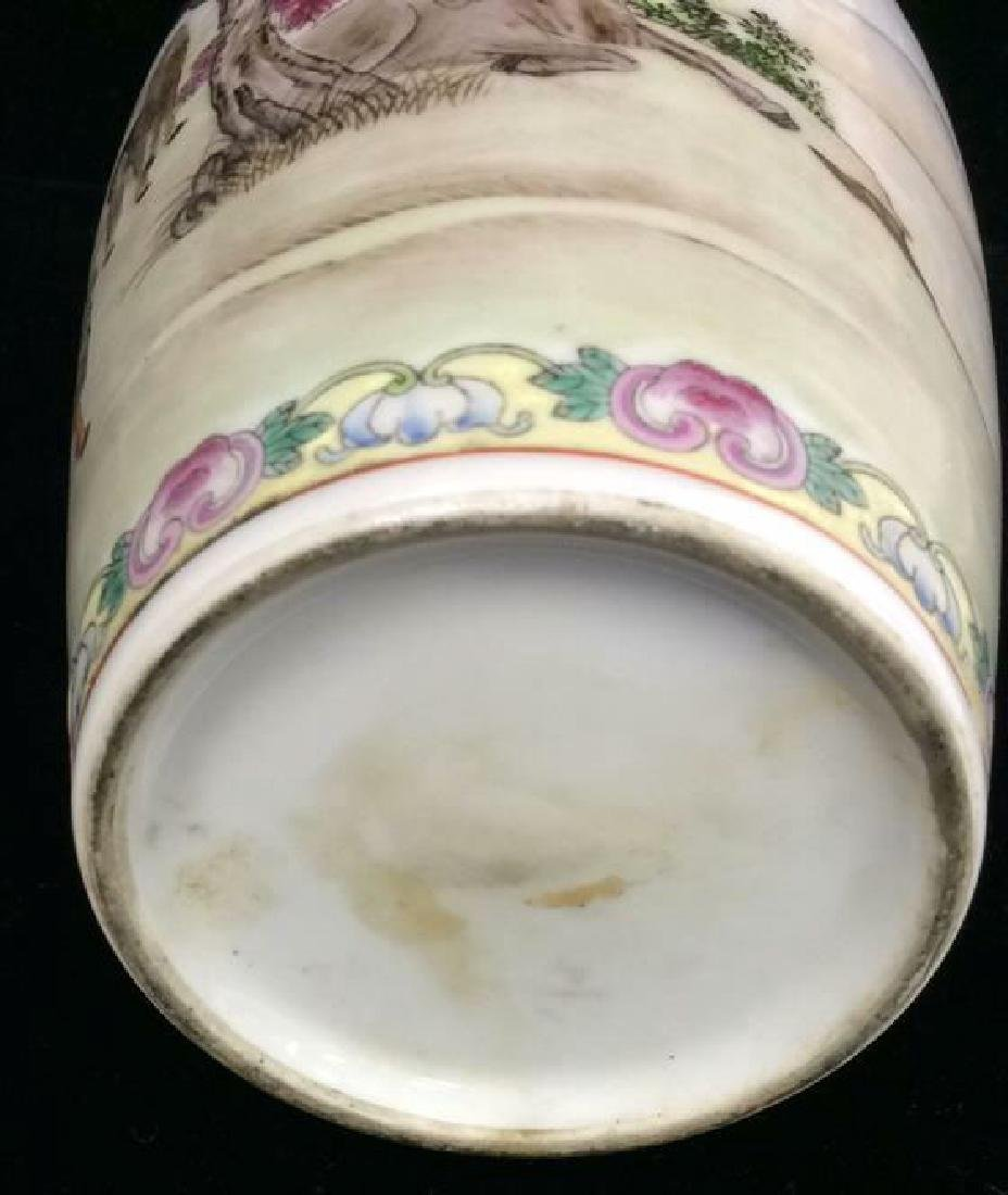 Painted Porcelain Chinese Vase - 10