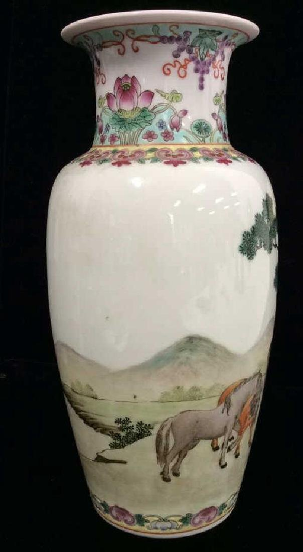 Painted Porcelain Chinese Vase - 2