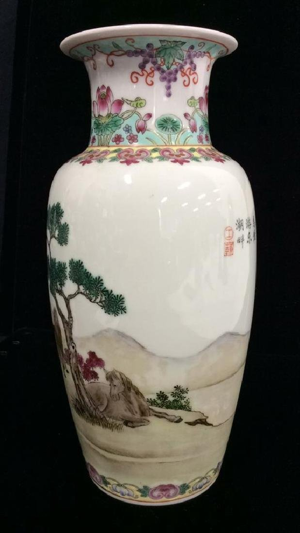 Painted Porcelain Chinese Vase - 4