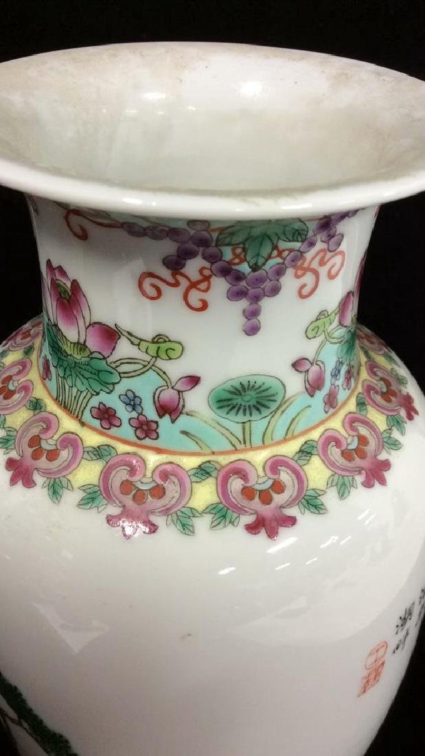 Painted Porcelain Chinese Vase - 6