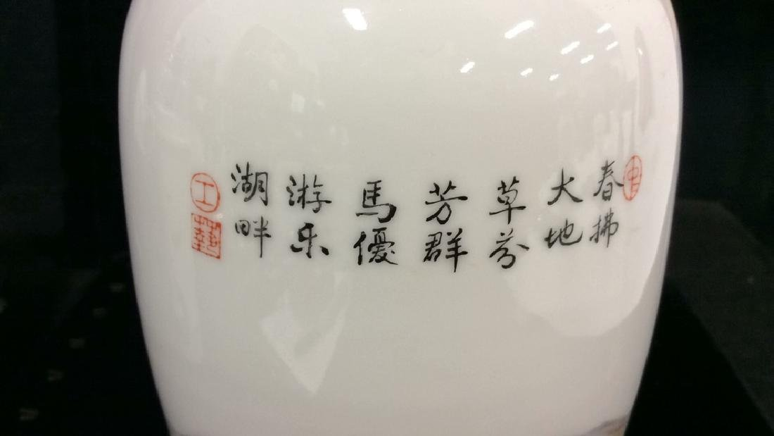 Painted Porcelain Chinese Vase - 7