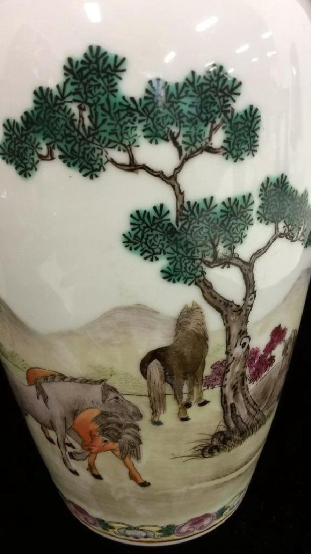 Painted Porcelain Chinese Vase - 8