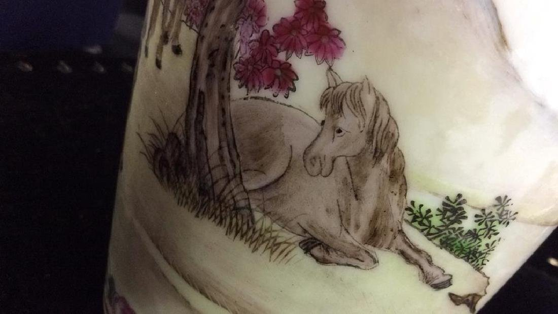 Painted Porcelain Chinese Vase - 9