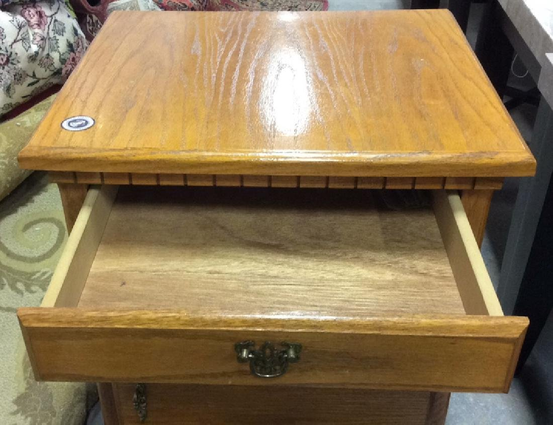Light Brown Toned Side Table Chest W Drawer - 4