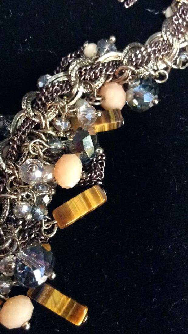 Natural Stone W a Cut Glass Beaded Necklace - 8